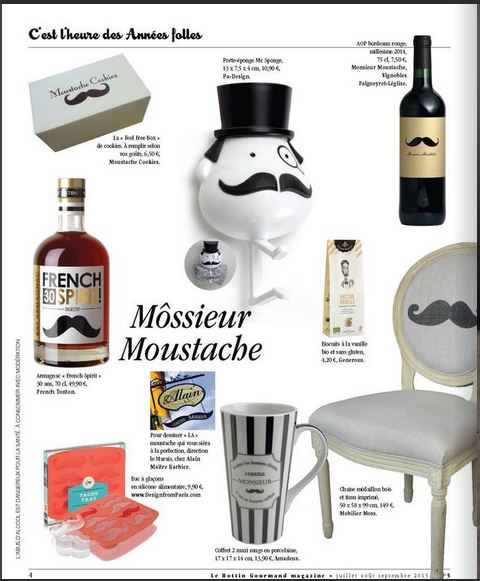 Chaise moustache dans le bottin gourmand de septembre 2015