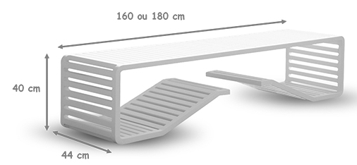 dimensions banc bench