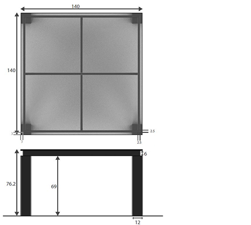 Table salle a manger carree 140x140 6 arklow dimensions for Table salle a manger carree 140x140