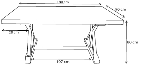 dimensions table