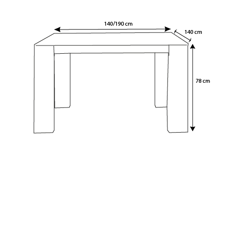 Table salle a manger carree extensible 5 dimensions - Dimensions table a manger ...