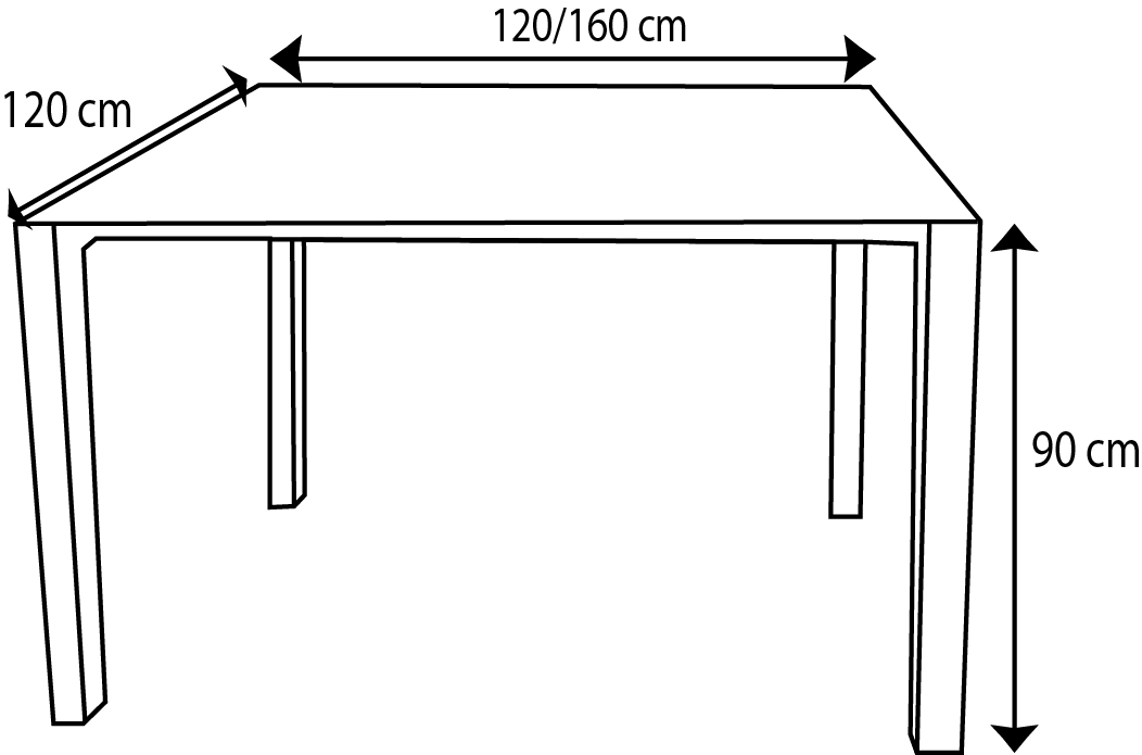 Hauteur d une table a manger - Dimensions table a manger ...