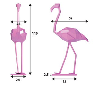 dimensions flamant rose