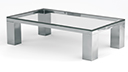 Table basse rectangulaire en verre - Glassy