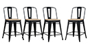Lot de 4 tabourets tôle design industriel assise 69cm - La Marcelle