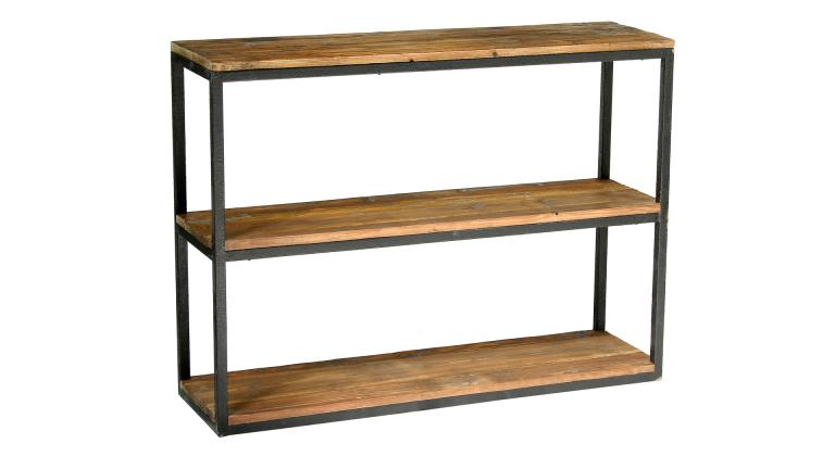 Boldy grande tag re au design industriel en bois et fer for Meuble etagere style industriel