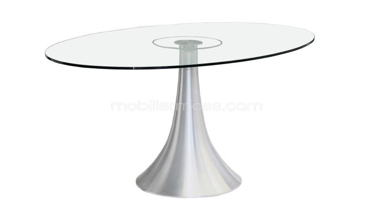 Table ovale en verre - Table ovale en verre design ...