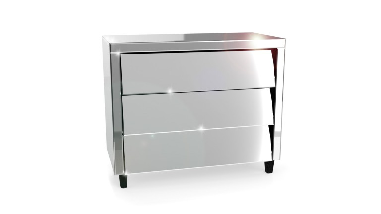 Commode miroir 3tiroirs 2 inesia mobiliermoss