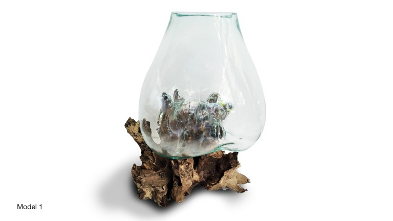 Extra Large Blown Glass Model 1