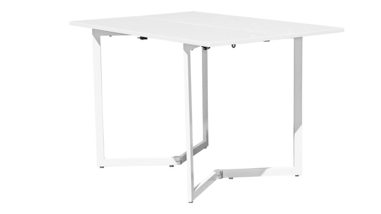 Table console pliante plateau laque for Table pliante gain de place