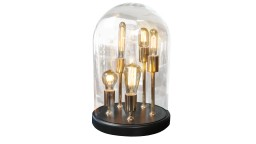 Lampe de table cloche verre 5 ampoules filaments zacchary 3 mobiliermoss