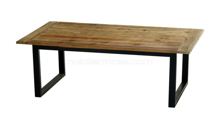 Table industrielle r tro au design vintage noldy for Table bois metal design
