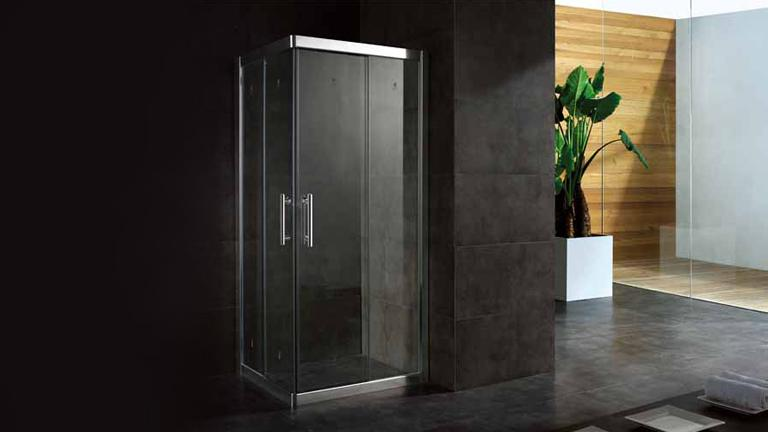 paroi de douche verre tremp lelia disponible en 80x80 et 90x90 cm mobilier moss. Black Bedroom Furniture Sets. Home Design Ideas