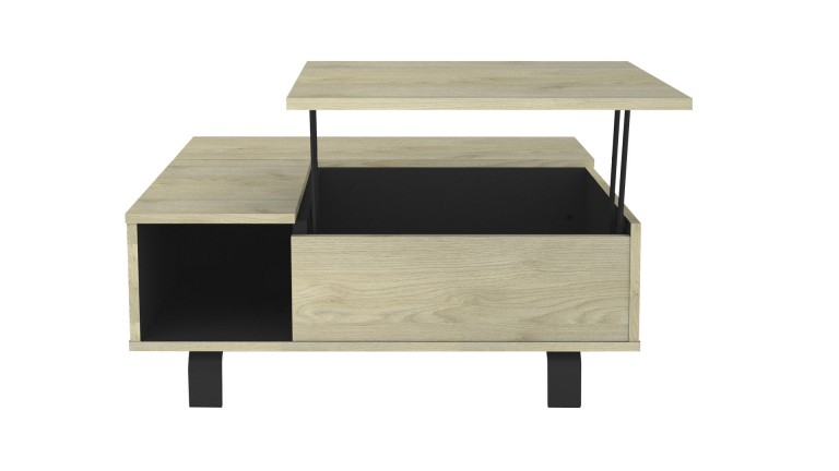 Rush Table basse relevable style industriel pieds metal