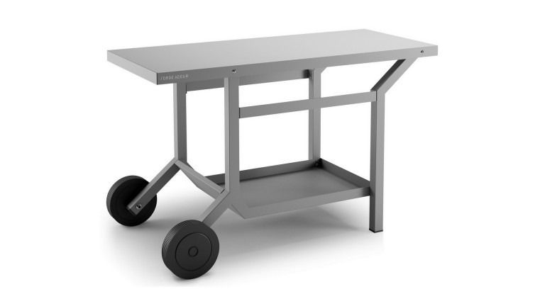 TRA G Table roulante Acier gris anthracite