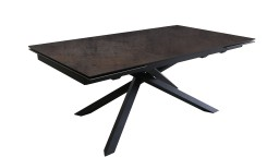 Ceramic dining table and black metal foot - Timeo