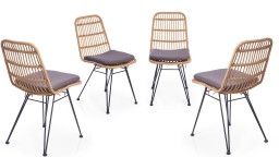 lot de 4 chaises rotin mobiliermoss