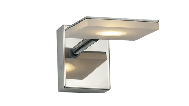 Aplique 1 led giratoria en acero inoxidable sacramento for Aplique para bano en acero inoxidable