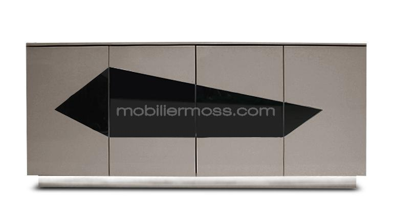 bahut saya taupe led blanc mobiliermoss