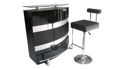 Bar laque noir luminella mobiliermoss
