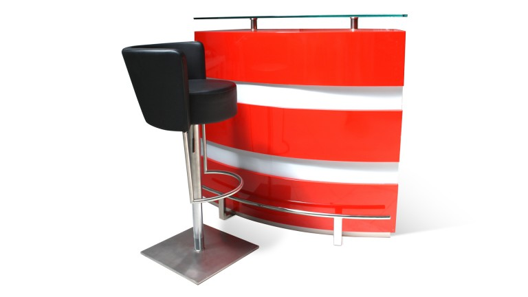 Bar laque rouge luminella mobiliermoss