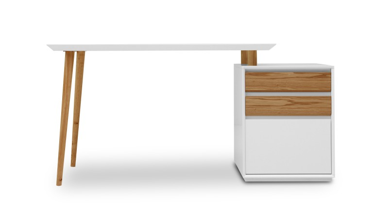 bureau design bois et blanc. Black Bedroom Furniture Sets. Home Design Ideas
