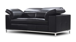 canape 2 places melton apuie tete relevable noire acoudoir relevable design mobiliermoss