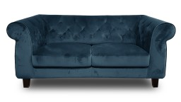 canape 2places chesterfield velours N105bleu eriko mobiliermoss