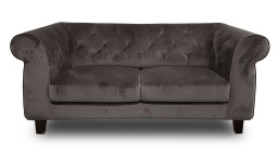 canape 2places chesterfield velours N83 taupe eriko mobiliermoss