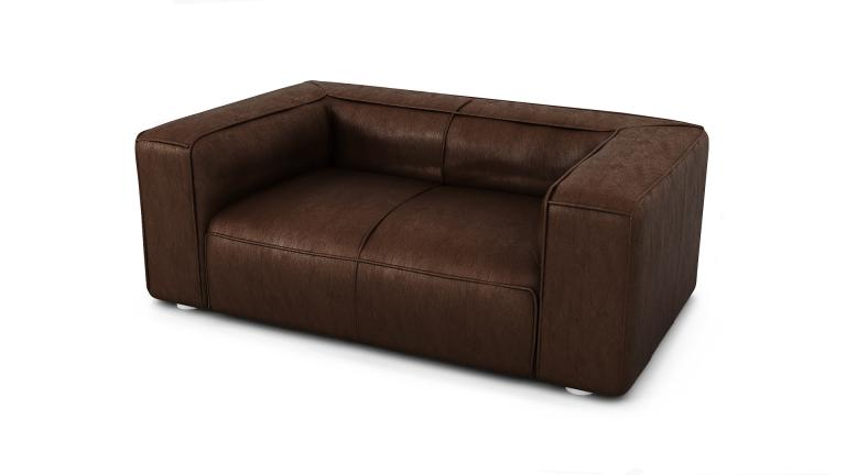 canap 2 places microfibre aspect vintage 2 coussins morys mobilier moss. Black Bedroom Furniture Sets. Home Design Ideas