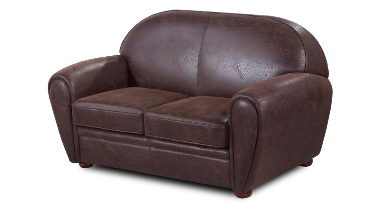 Canape convertible 2 pl microfibre marron vieilli - Canape convertible 2 places fly ...