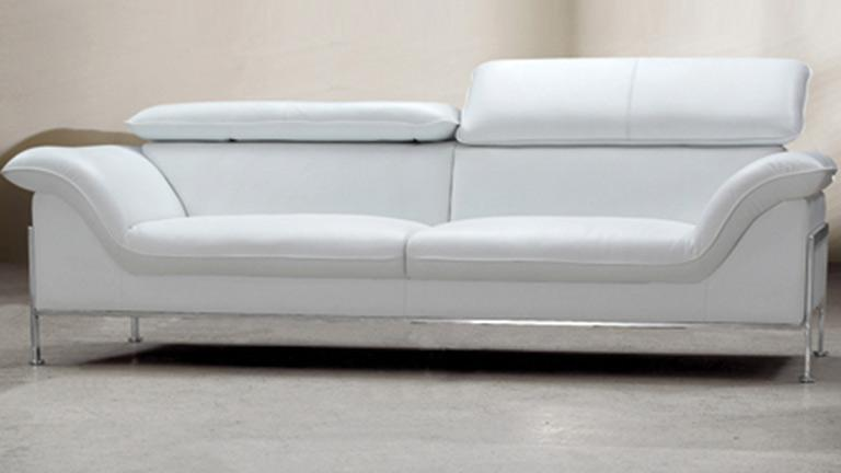 Canap cuir 3 places pour int rieur design shawn for Canape cuir blanc design