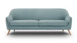 canape 3 places scandinave tissu 3d vert face skanor mobiliermoss