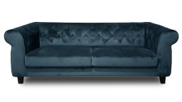 canape 3places chesterfield velours N105bleu eriko 1 mobiliermoss
