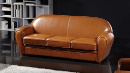 canape 3places cuir bycast CP313 jazzy mobiliermoss