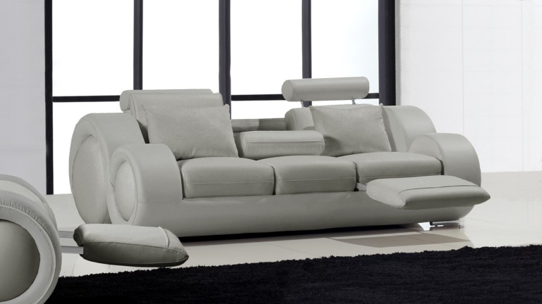 canape 3places cuir gris428 pierce mobiliermoss