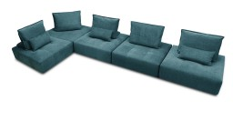 canape 5places angle modulable tissu bleu B730 dossier deplacable larvik mobiliermoss