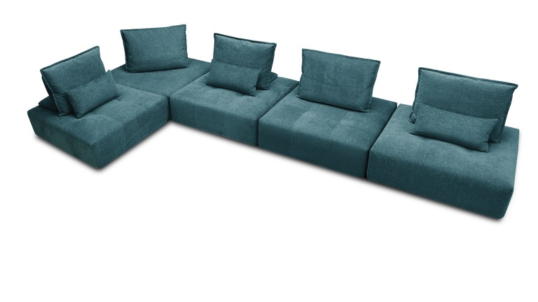Canap avec dossier modulable larvik 5 places en tissu for Definition of canape