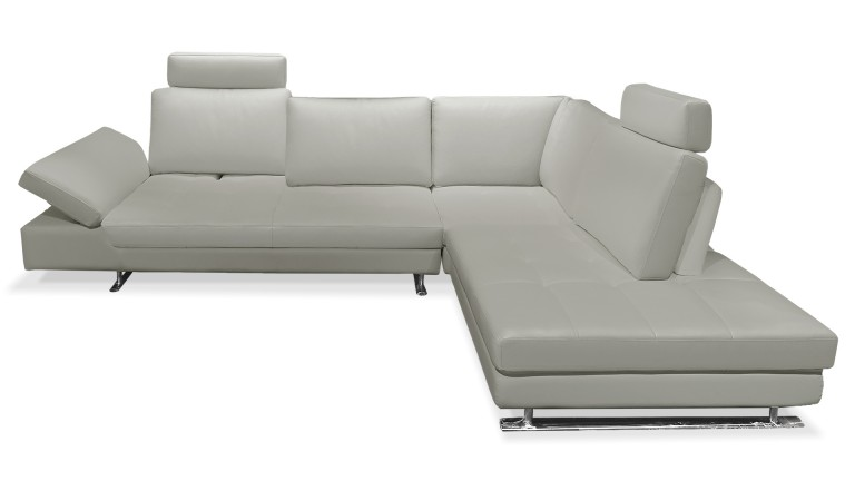 canape angle cuir gris perle mobiliermoss