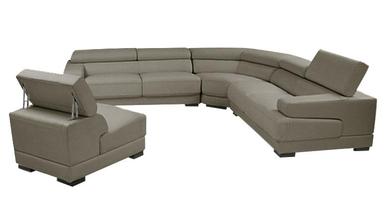 canape angle dossier relevable cuir capitole taupe557 mobiliermoss