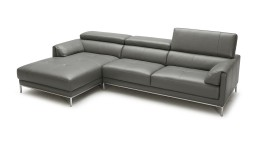 canape angle gauche cuir dossier relevable gris9019 oppland mobiliermoss