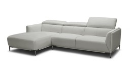 canape angle gauche dossier modulable cuir pvc gris9015 akano mobiliermoss
