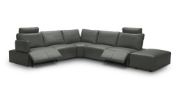 canape angle relaxation electrique cuir gris9019 dyle 1 mobiliermoss