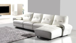 canape blanc cuir design sofa cuir mobiliermoss yeary