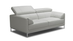 canape cuir 2 places dossier relevable gris9015 oppland mobiliermoss