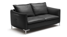 canape cuir 2places noir 5509 halden mobiliermoss
