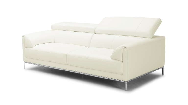 canape cuir 3places dossier relevable blanc9715 oppland mobiliermoss