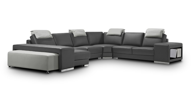 canape cuir angle droit gris7023 428 genicy mobiliermoss