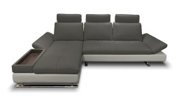 canape cuir ass anthra cote gris avec meridienne mobiliermoss