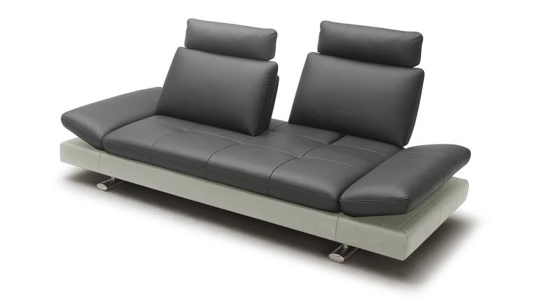canape cuir design relax modulable 2places assise gris 9019 bas perle minho mobiliermoss